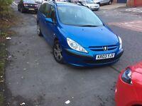 Peugeot 307 2.0 hdi 2003 03 met blue 450