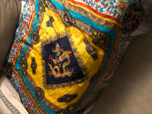 Silk square large scarf never worn brand new asking $20