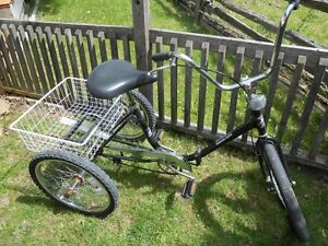 Adult folding 3-wheel tricycle
