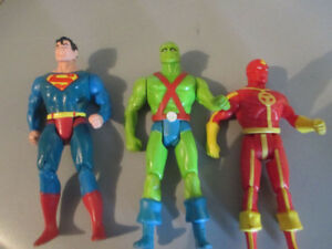 3 VINTAGE 80'S SUPER POWERS ACTION FIGURES