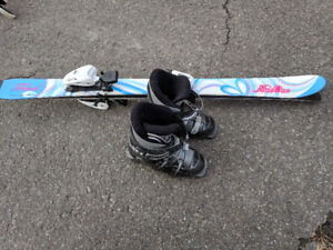 Skis and boots 105cm (4-6 years old)