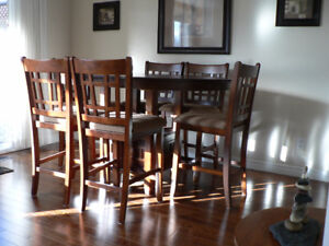 Dinning Table And Six High Back Chairs