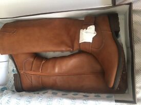 **new real leather boots in their original box **