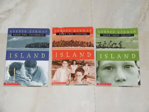 Three book set: Island by Gordon Korman