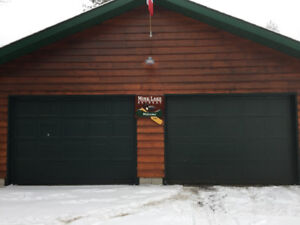 GARAGE DOORS - 10 X 7 - FOREST GREEN - NEW