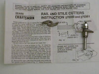 Craftsman Rail and Stile Cutters