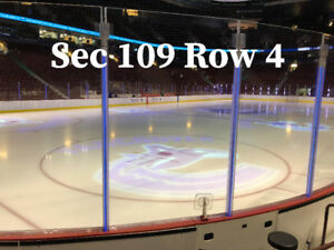Vancouver Canucks 2 Tickets - Section 109 Row 4