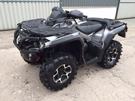 Can Am Outlander 1000cc XT Road Registered 2012 (800 650)