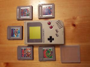 Original Gameboy with 5 games!!!