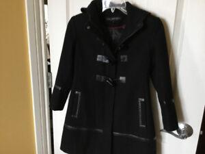 Little Girl's Black Dress Coat