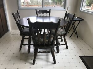 kitchen or dining table and desk chair
