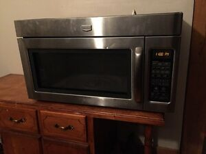 Maytag stainless over the range microwave oven