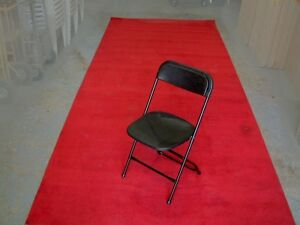 RED CARPET - 6' X 25' - RED - UNEDGED - USED AUCTION DEC 8TH