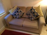 Two seater sofa and two single armchairs