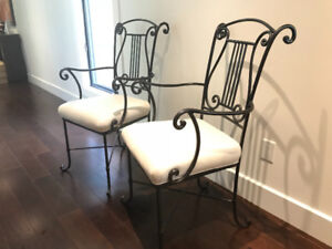 Two Accent indoor Wrought iron chairs