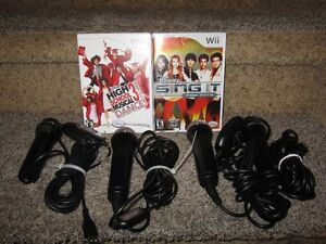 Wii microphone and games