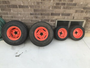 Kabota tractor rims with tires