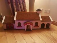 Ornamental Large wooden thatched cottage