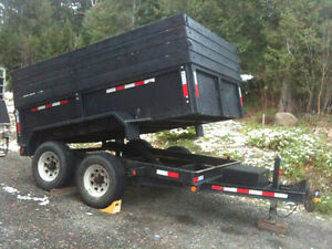 Dump Trailer for Hire - U Call - We Haul