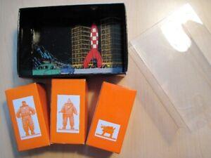 Tintin coffret de 3 micro-figurines Objectif Lune Moulinsart