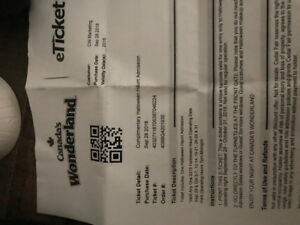 HALLOWEEN HAUNT TICKETS CANADAS WONDERLAND -ANY NIGHT!!!!!