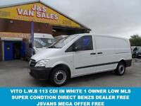 2013 13 MERCEDES-BENZ VITO LWB 113 CDI 1 OWNER VAN VERY CLEAN DIESEL