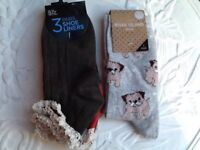 👟👡💙 4 pairs of brand new ladies ankle socks with trim size 4-8 uk