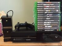 New style Xbox one in matte black finish 15 games Kinect and double charging dock