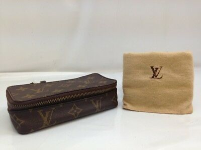 Auth Louis Vuitton Monogram Jewelry Case Vintage Rare 8A310780S