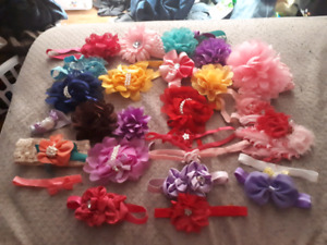 Baby headbands with decorative bag