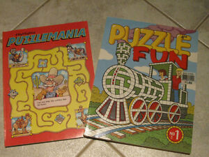 ...Two CHILDREN'S PUZZLE-MANIA BOOKS...