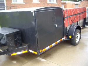 Very solid 6 x 12 to 14ft single axle trailer with brakes