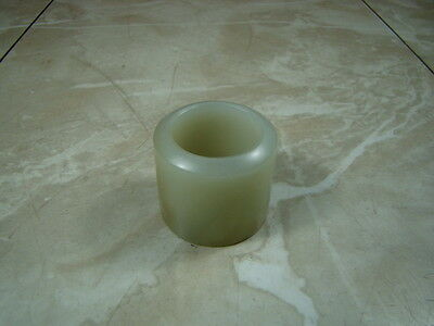 Chinese 19th century hetian jade thumb ring  o2367