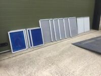 Nobo glazed lockable display cases.