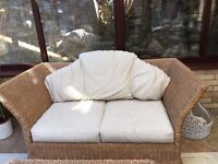 Excellent quality rattan sofa and swivel armchair for conservatory