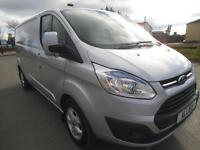 2015 FORD TRANSIT CUSTOM 2.2 TDCI 125 290 L2 H1 LIMITED **BUY FROM £80 P/W * PAN