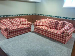 3-seat sofa bed and 2-seat love seat