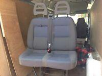 Citroen relay front double passengers seat ex condition