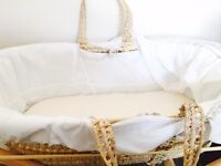 Brand new moses basket for sale with tags