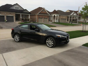 2017 Mazda3 GT Premium package - Black, Fully loaded