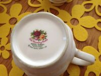 60.00 OBO. Royal Albert Old Country Rose Mugs (4)