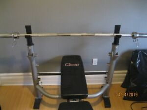 Fitness Weight Bench & 7' Olympic Bar