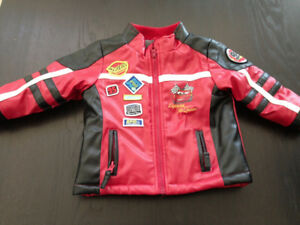 Toddler leather and Lightning McQueen coats