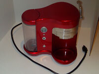 Red SUNCAFE Single Cup Pod Brewer, 5 Programmable Cup