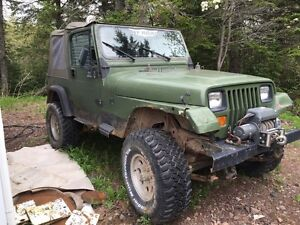 "1992 Jeep YJ Wrangler 33"" Tire Mud Truck"