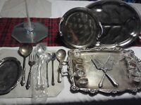 Silver, Silver plated, & Zinc Dining Set