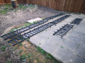 Iron gate and fencing