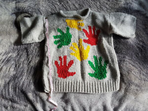 Vintage Hand Knit Sweaters and hats