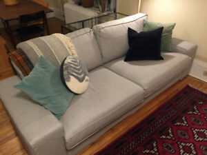 Downsizing Sale! Couch, lamp, mirror!