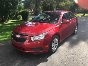 Chevrolet Cruze LT Turbo 2012, 55,652 km, garantie fin oct 2019